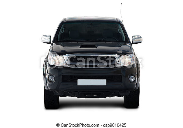 Front view of pick-up truck - csp9010425