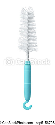 Front view of plastic bottle brush - csp51567053