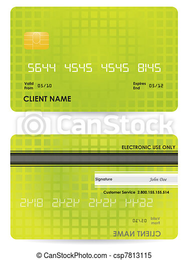 fronte, credito, vettore, indietro, scheda - csp7813115