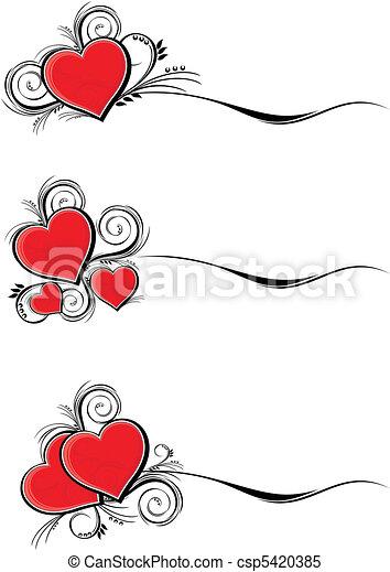 fronteiras, valentines - csp5420385