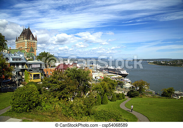 frontenac, 城, ケベック 都市 - csp54068589