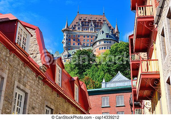 frontenac, 城, 日 - csp14339212