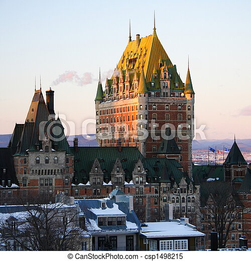 Quebec-Stadtmark, Schloss-Front - csp1498215