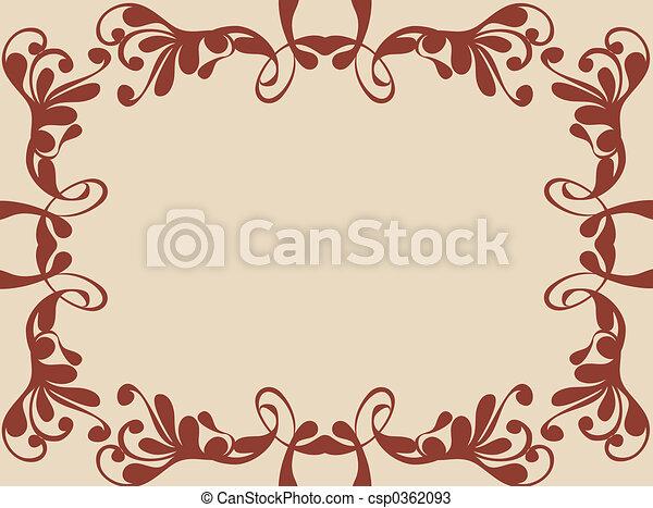 Frontera decorativa - csp0362093
