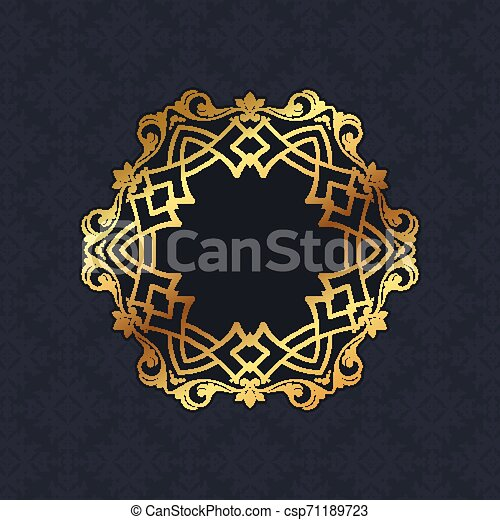 Diseño de Frontera Decorativa 1406 - csp71189723