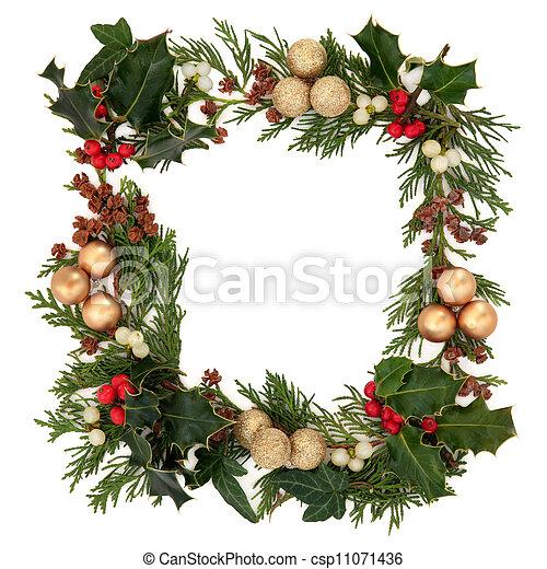 Frontera decorativa de Navidad - csp11071436