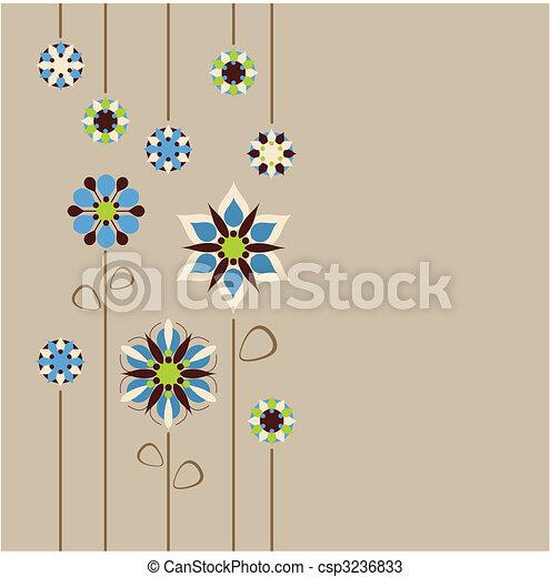 frontera floral, seamless, retro - csp3236833