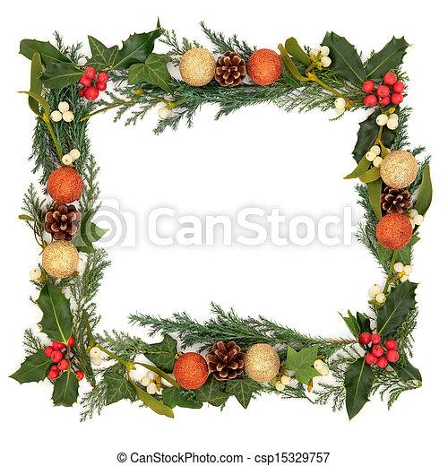 La frontera de Navidad - csp15329757