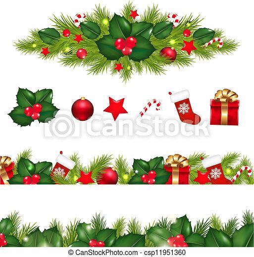 Fronteras Conjunto Navidad Guirnalda Navidad Conjunto - Guirnalda-navidad