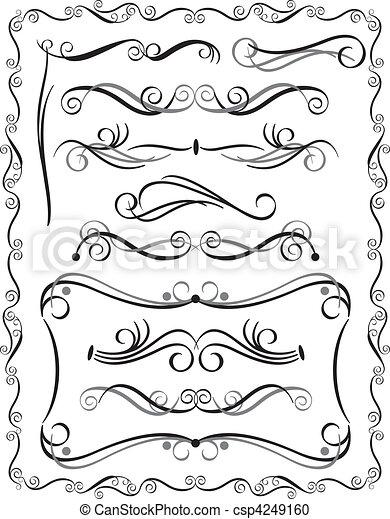 Fronteras decorativas establecidas 3 - csp4249160