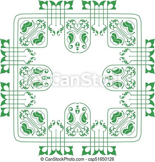 frontière, cadre, conception - csp51650126