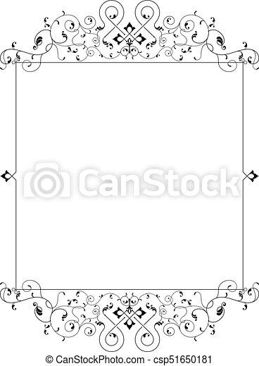 frontière, cadre, conception - csp51650181