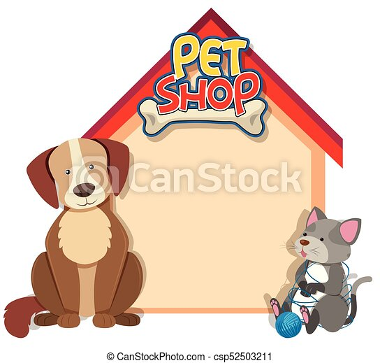 frontière, chien, gabarit, chat - csp52503211