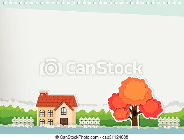 frontière, conception, maison - csp31124688
