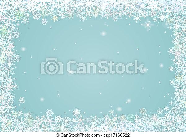 frontière, flocons neige - csp17160522