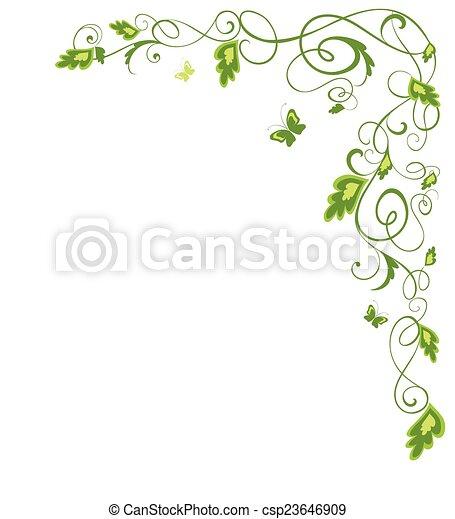 frontière florale - csp23646909