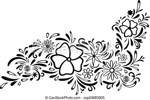 frontière florale - csp24683905