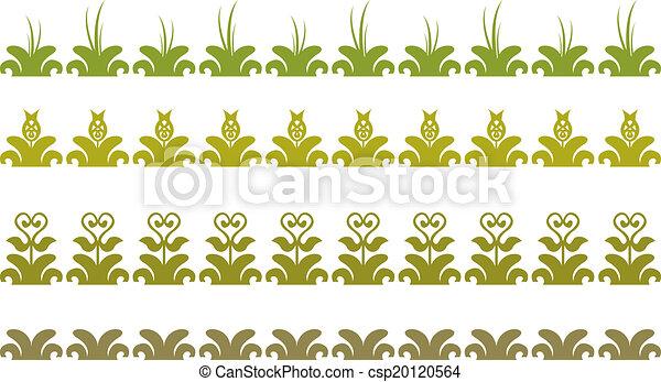 frontière florale - csp20120564