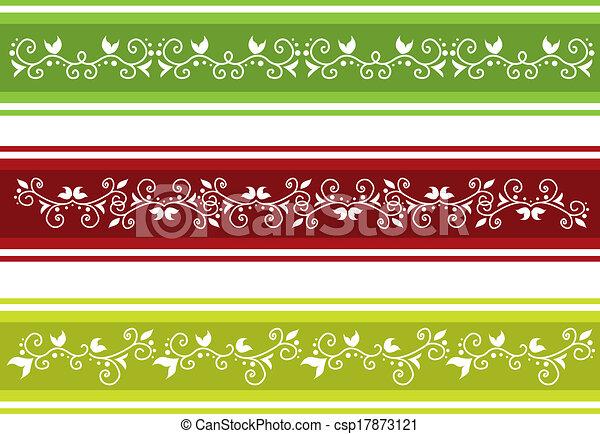 frontière florale - csp17873121