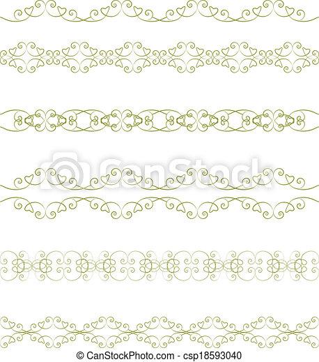 frontière florale - csp18593040