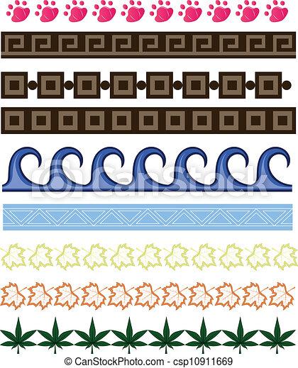frontières, ensemble, dessin animé - csp10911669