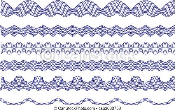 frontières, modèle, vecteur, guilloche - csp3630753
