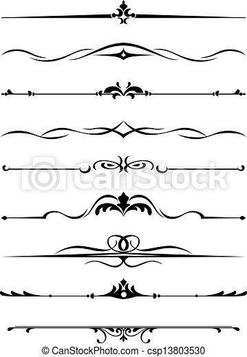 frontières, monogrammes - csp13803530