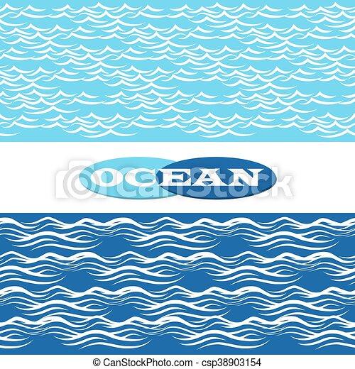 frontières, océan, seamless, vagues - csp38903154