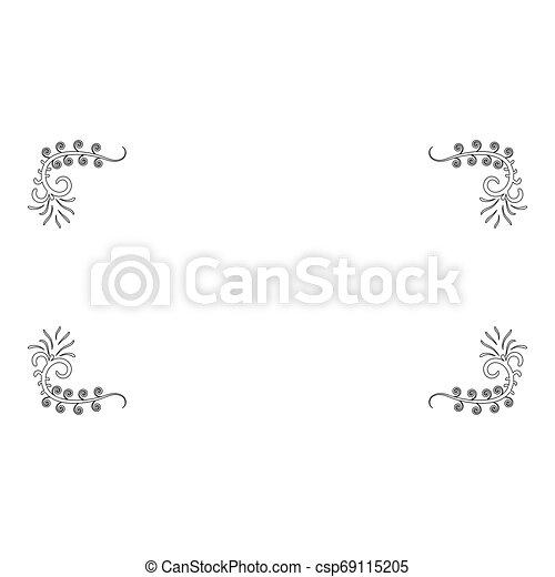 Froral board Art frame icon outline black color vector illustration flat style image - csp69115205