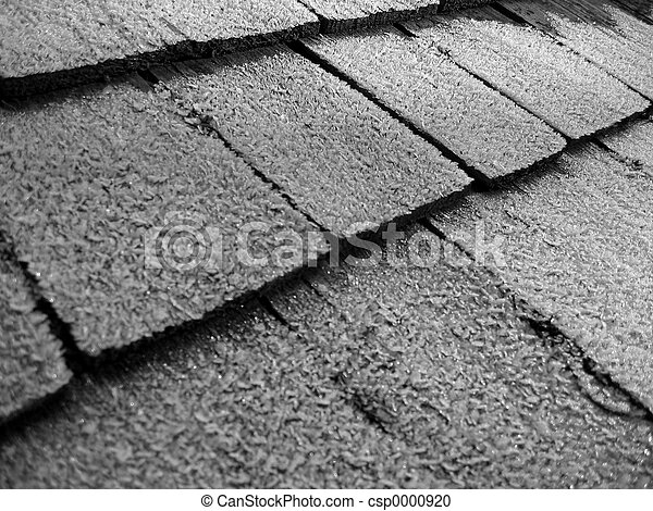 Frost on shingles - csp0000920