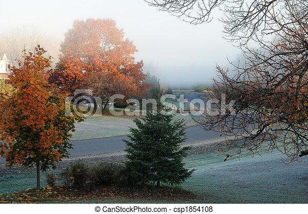 Frosty Fall Morning - csp1854108