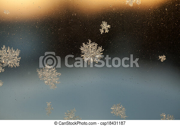 Frosty Window Abstract Background - csp18431187