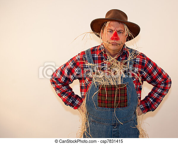 Frowning scarecrow - csp7831415
