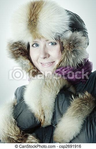 Frozen but smiling - csp2691916