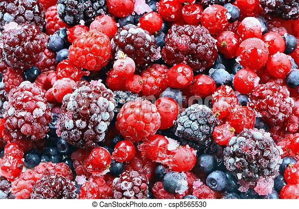 Frozen forest fruits. - csp8565530