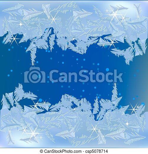 Frozen frost on the window - csp5078714
