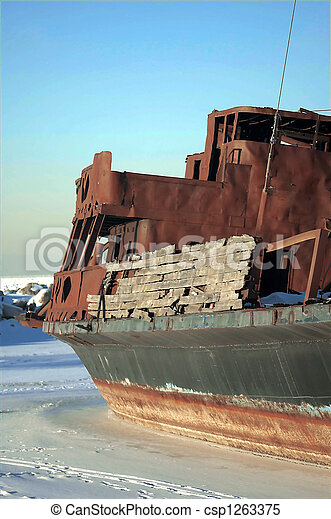 Frozen Shipwreck-3 - csp1263375