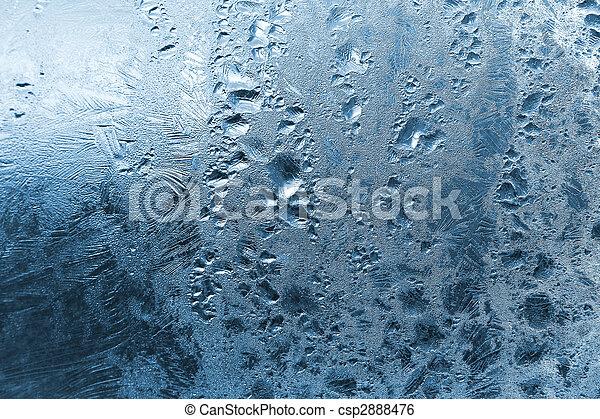 frozen water drops on window - csp2888476