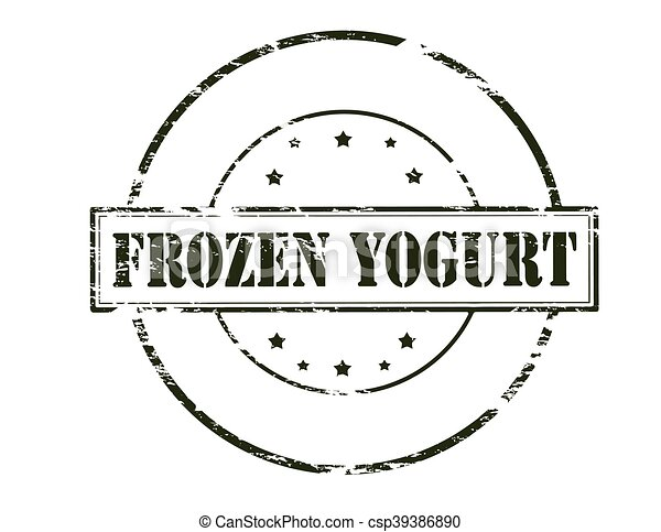 Frozen yogurt - csp39386890