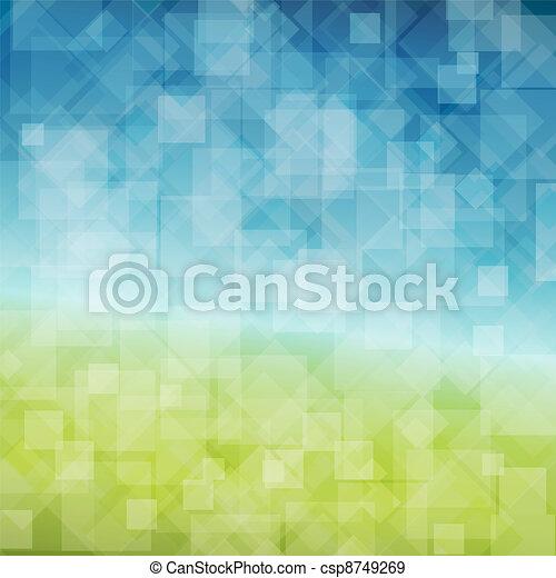 Vector Spring abstrakter Hintergrund - csp8749269