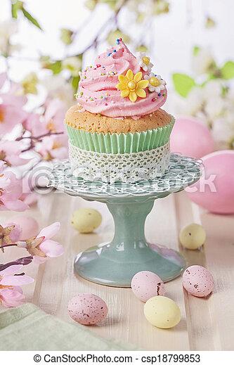 fruehjahr, cupcake - csp18799853