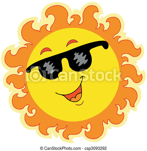 Frühlingssonne mit Sonnenbrille - csp3093292