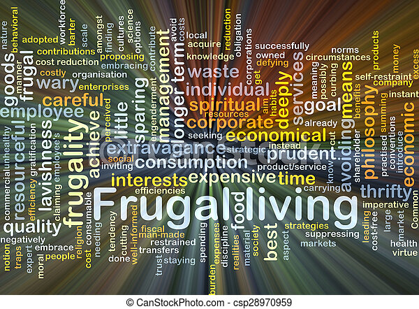 frugal, encendido, concepto, plano de fondo, vida - csp28970959