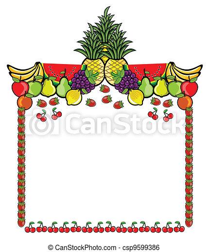 Fruit Advertising Label - csp9599386