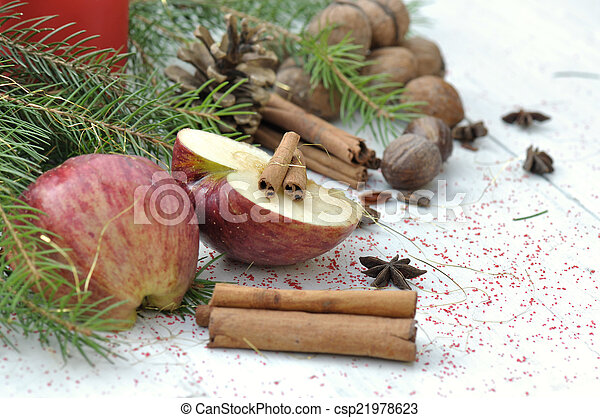 fruit and spices for dessert - csp21978623
