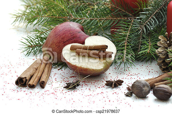 fruit and spices for dessert - csp21978637