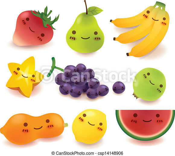 Fruit and vegetable Collection Vect - csp14148906