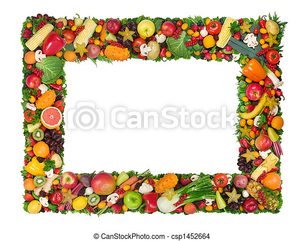 Fruit and vegetable frame - csp1452664