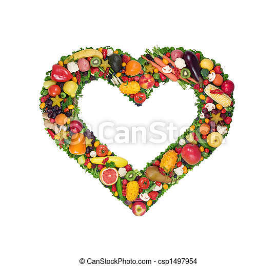 Fruit and vegetable heart - csp1497954