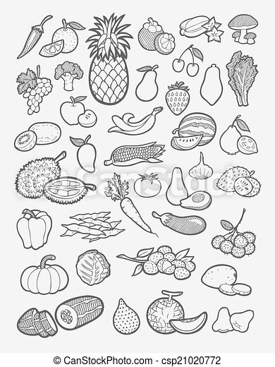 Raspberry Plant Drawing Fruit and vegetable ic...